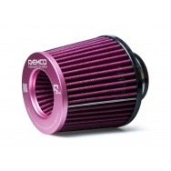 Raemco vzduchový filtr - univerzální, vstup 77mm, růžový
