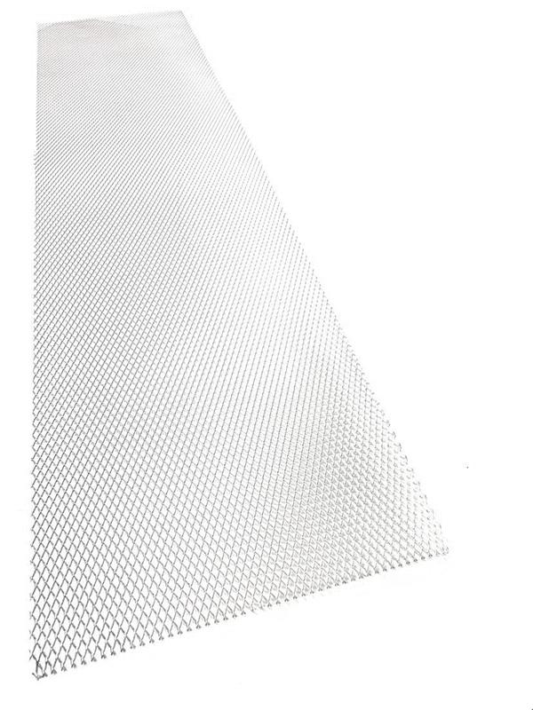 Hliníkový tahokov, kosočtverec, 100 x 25 cm - stříbrný, malá oka