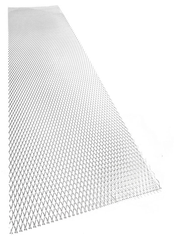 Hliníkový tahokov, kosočtverec, 100 x 25 cm - stříbrný, střední oka