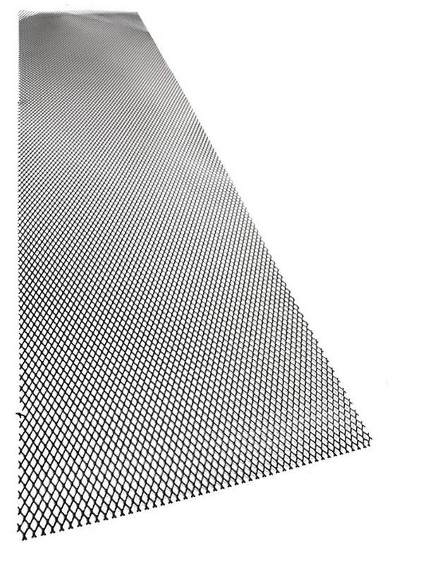 Hliníkový tahokov, kosočtverec, 100 x 25 cm - černý, malá oka