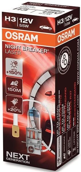 Autožárovky H3 12V 55W OSRAM Night Breaker Laser NEXT GENERATION, o 150% více světla