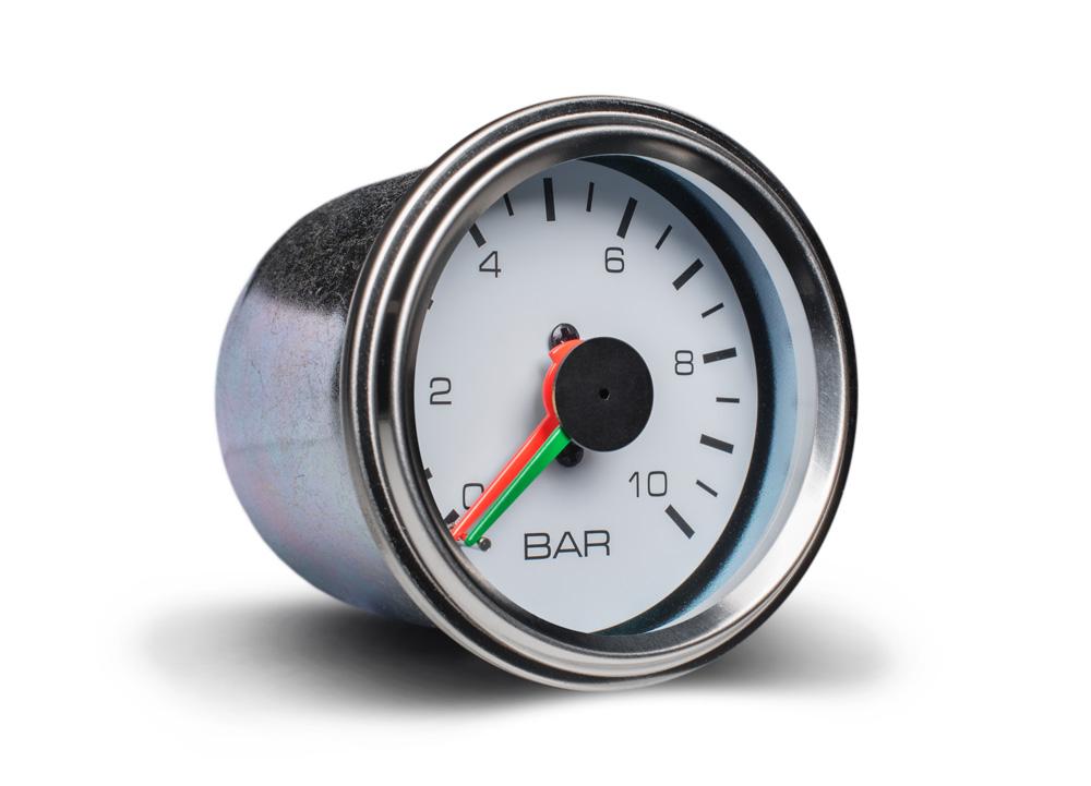 Autogauge přídavný ukazatel tlaku vzduchu dvouručičkový bílý