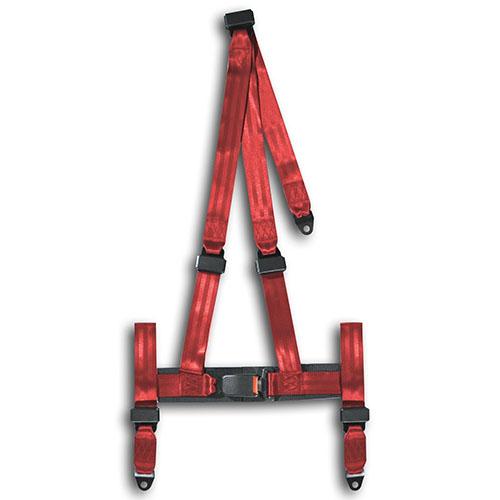Tříbodové pásy - červené