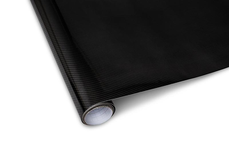 Carbon (karbonová) folie - 5D textura 152x200cm, černá