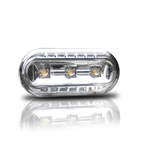Boční blinkry VW Golf III / Vento (od 10.95) s LED, chom