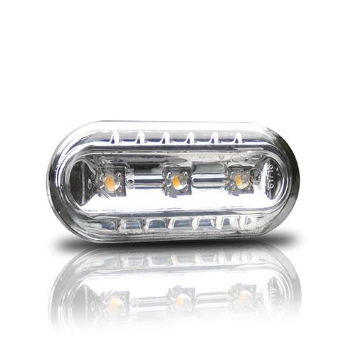 Boční blinkry VW Polo 6N / 6N2 s LED, chom