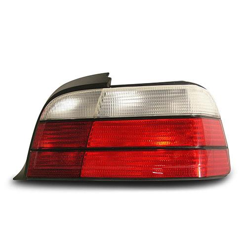 Zadní světla BMW 3 E36 coupé / cabrio - červené / chrom