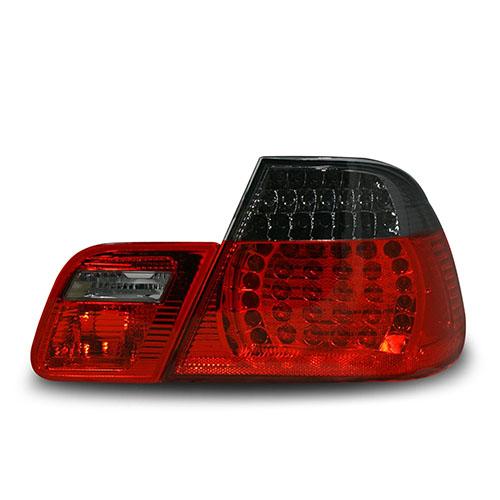Zadní světla BMW 3 E46 coupé (4.99 - 3.03) - s LED, červené / černé