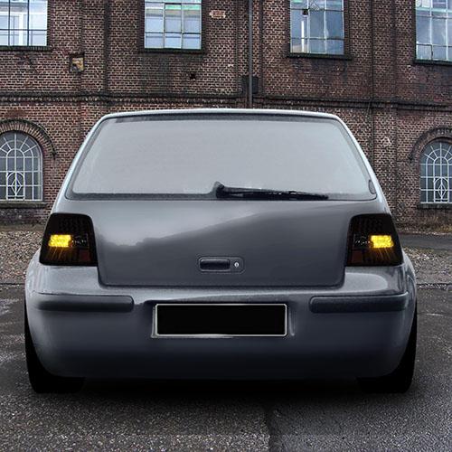 Zadní světla VW Golf (4) IV s LED - ultra černá