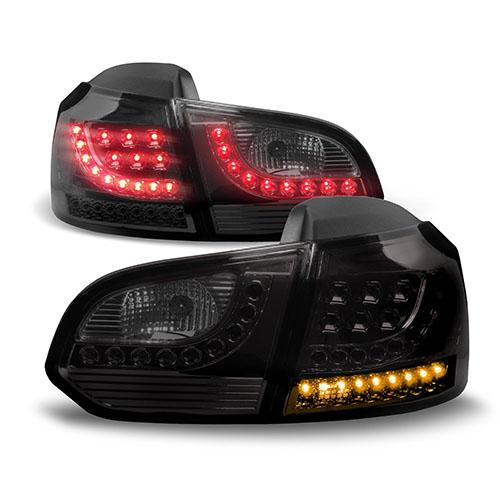 Zadní světla VW Golf (6) VI s LED - černá