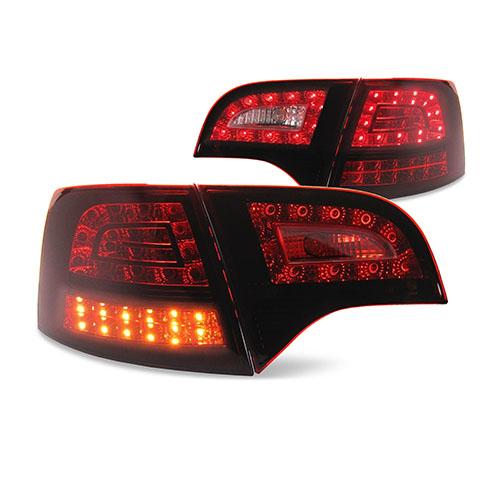 Zadní světla Audi A4 Avant B7 (04-08) s LED - tmavě červená