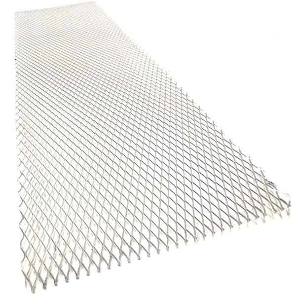 Hliníkový tahokov, kosočtverec, 100 x 25 cm - stříbrný, velká oka