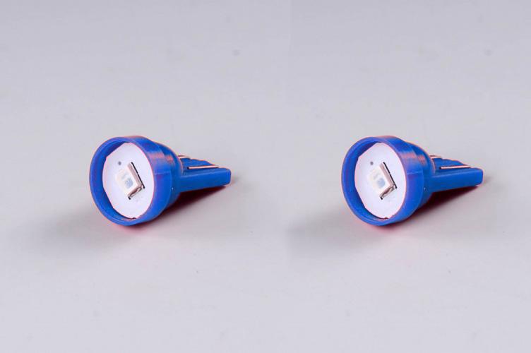 Žárovky do parkovaček - LED modré T10