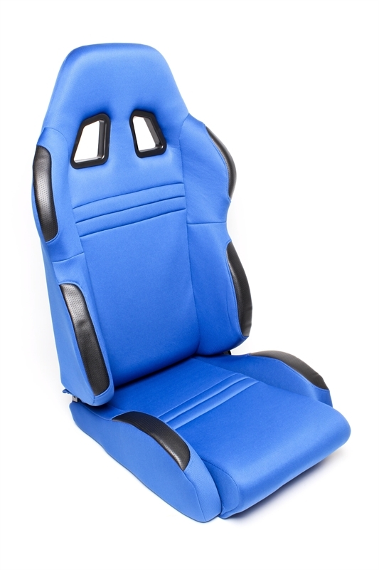 TA Technix sportovní sedačka sklopná - modrá Alcantara, levá