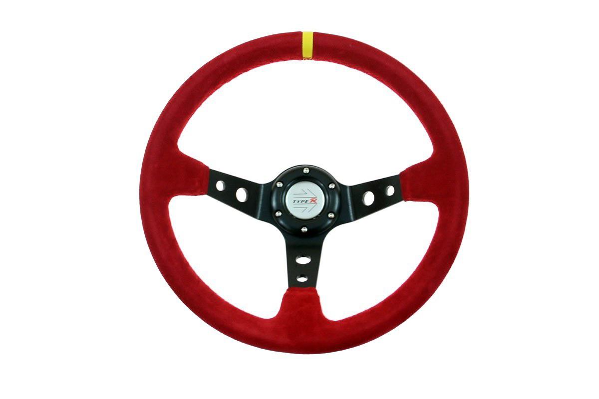 Sportovní semišový volant - červený, průměr 35cm