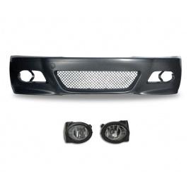 JOM přední nárazník BMW 3 E46 (5.98-05) M3-Look + mlhovky čiré (akční set)