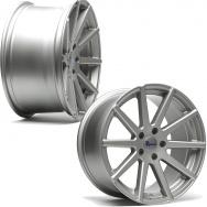 """Sada konkávních ALU kol TA Technix XF2 pro Volkswagen Group / Mercedes, 2ks 8,5""""x19"""" ET42 + 2ks 9,5""""x19"""" ET35, rozteč 5x112, střed 66,6/57,1 - stříbrná"""