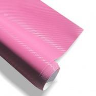 Carbon (karbonová) folie - 3D textura 152x200cm, růžová