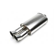 TA Technix sportovní nerezový tlumič výfuku - DTM dvojitá kulatá koncovka, 2x76mm