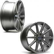 """Sada konkávních ALU kol TA Technix XF2 pro Volkswagen Group / Mercedes, 4ks 8,5""""x19"""" ET42, rozteč 5x112, střed 66,6/57,1 - šedá (GunMetal)"""