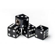 Čepičky ventilků - hrací kostky, černé
