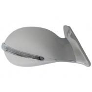 Sportovní zrcátka V-serie s LED blikačem - chrom, manuální