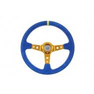 Sportovní semišový volant - modrý, průměr 35cm
