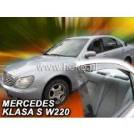 HEKO ofuky oken Mercedes Benz S W220 4dv (1999-2005) přední + zadní