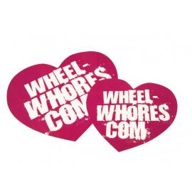Wheel Whores samolepka - Pink Heart (2ks)
