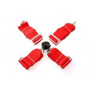 """Čtyřbodové pásy GPX - červené, šířka 3"""""""