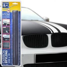 Carbon (karbonová) folie - 3D textura 30x150cm, černá