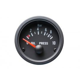 Autogauge palubní přístroj - tlak oleje s černým podkladem