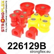 Strongflex sportovní silentbloky Seat Leon 1M 4x4 vč. Cupra, sada pro zadní nápravu