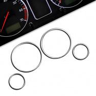 Chromované rámečky budíků BMW X5 (do 07)