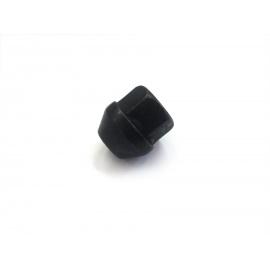 Kolová matice M12 x 1,25 - kužel, otevřená, černá