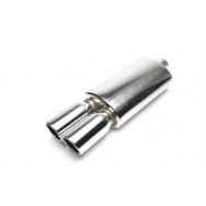 TA Technix sportovní nerezový tlumič výfuku - dvojitá zkosená kulatá koncovka, 2x89mm