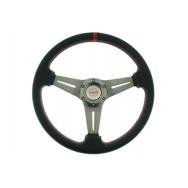 Sportovní volant - černý, průměr 35cm