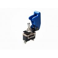 Vypínač 12V včetně krytky - modrý