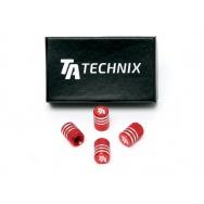 TA Technix čepičky ventilků - červené