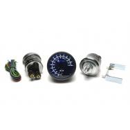 """TA Technix ukazatel tlaku 2"""" dvojručičkový, bílé LED podsvícení"""