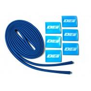 """DEi Design Engineering sada termo izolačního návleku """"Protect-A-Wire"""" délka 2,1 m + 6x koncovka s logem, modrá barva"""
