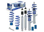 JOM Blue Line výškově stavitelný podvozek VW Passat (3C, B7) včetně Variant a 4-motion 1.6, 2.0, 2.0T / DSG, 1.9TDi