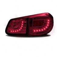 Zadní světla VW Tiguan (07-11) s LED - tmavě červená