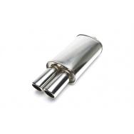 TA Technix sportovní nerezový tlumič výfuku - dvojitá zkosená kulatá koncovka, 2x76mm