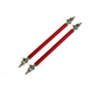 Hliníkové vzpěry spoilerů a difuzorů - červené, délka 150 mm