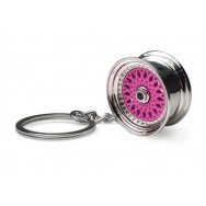 Přívěšek na klíče - lité kolo, růžové