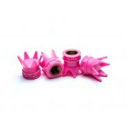 Čepičky ventilků - růžové korunky
