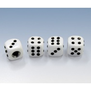 Foliatec čepičky ventilků - hrací kostky bílé
