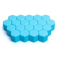 Silikonové kryty na kolové šrouby 17 mm, sada 20 ks, světle modré