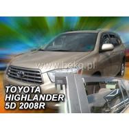 HEKO ofuky oken Toyota  Highlander 5dv (od 2007) přední + zadní